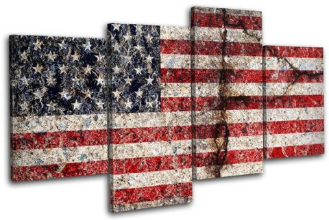 Abstract American Maps Flags - 13-1502(00B)-MP04-LO